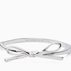 NWT~KATE SPADE~Silver Skinny Mini Bow Bangle